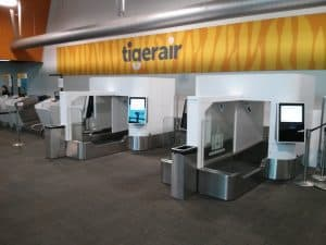 Tigerair Auto Bag Drops in Melbourne Airport